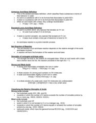sbc 200 Lecture Notes - Lecture 10: Lone Pair, Conjugate Acid, Nitrous Acid