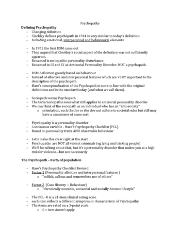 psy 300 lecture notes winter 2016 lecture 5 psychopathy