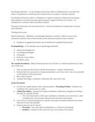 PSYC 3140 Chapter Notes - Chapter 1: Somatic Symptom Disorder, Dorothea Dix, Unconscious Mind