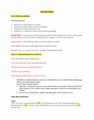 MIS 302F Study Guide - Quiz Guide: Search Engine Optimization, Organic Search, Google Trends