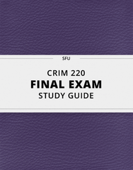 CRIM 220 Study Guide - Comprehensive Final Guide: Statistical Conclusion Validity, Construct Validity, Empirical Measure