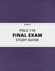 [POLS 110] - Final Exam Guide - Everything you need to know! (93 pages long)