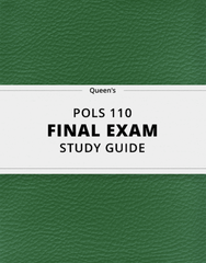 [POLS 110] - Final Exam Guide - Ultimate 212 pages long Study Guide!
