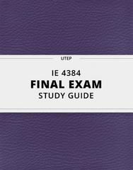 [IE 4384] - Final Exam Guide - Everything you need to know! (43 pages long)