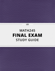 [MATH245] - Final Exam Guide - Comprehensive Notes for the exam (96 pages long!)