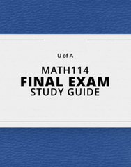 [MATH114] - Final Exam Guide - Ultimate 40 pages long Study Guide!