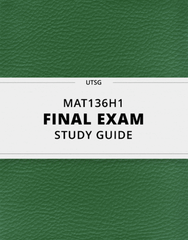 [MAT136H1] - Final Exam Guide - Everything you need to know! (127 pages long)
