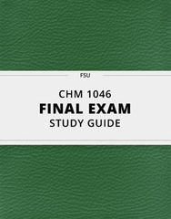 [CHM 1046] - Final Exam Guide - Comprehensive Notes for the exam (23 pages long!)