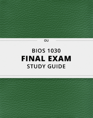 [BIOS 1030] - Final Exam Guide - Everything you need to know! (27 pages long)