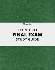[ECON 1BB3] - Final Exam Guide - Everything you need to know! (23 pages long)