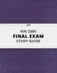 KIN 3385 Study Guide - Comprehensive Final Guide: Resting Potential, Oxidative Phosphorylation, Alpha Beta