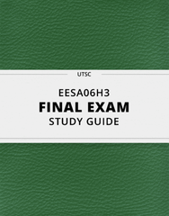 [EESA06H3] - Final Exam Guide - Ultimate 34 pages long Study Guide!