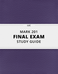 MARK 201 Study Guide - Comprehensive Final Guide: Micropolitan Statistical Area, Metropolitan Statistical Area, Marketing Strategy