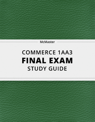 [COMMERCE 1AA3] - Final Exam Guide - Comprehensive Notes for the exam (124 pages long!)