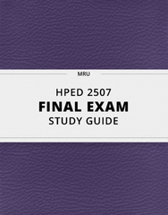 [HPED 2507] - Final Exam Guide - Ultimate 90 pages long Study Guide!