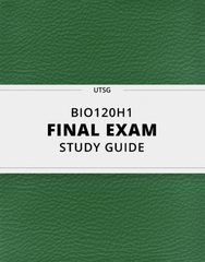 [BIO120H1] - Final Exam Guide - Everything you need to know! (24 pages long)