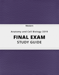 [Anatomy and Cell Biology 3319] - Final Exam Guide - Ultimate 91 pages long Study Guide!