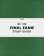 [RS 100] - Final Exam Guide - Comprehensive Notes for the exam (35 pages long!)