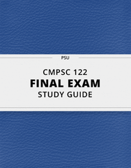 [CMPSC 122] - Final Exam Guide - Ultimate 24 pages long Study Guide!