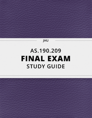 [AS.190.209] - Final Exam Guide - Ultimate 93 pages long Study Guide!