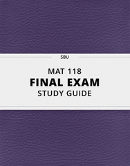 [MAT 118] - Final Exam Guide - Comprehensive Notes for the exam (27 pages long!)