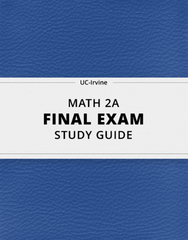 [MATH 2A] - Final Exam Guide - Everything you need to know! (105 pages long)