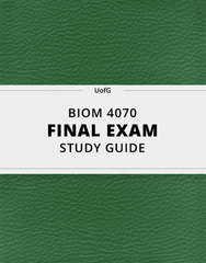 [BIOM 4070] - Final Exam Guide - Ultimate 53 pages long Study Guide!