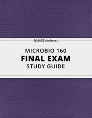 [MICROBIO 160] - Final Exam Guide - Comprehensive Notes for the exam (135 pages long!)