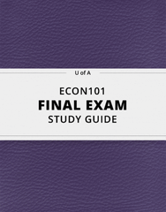[ECON101] - Final Exam Guide - Everything you need to know! (50 pages long)