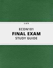 [ECON101] - Final Exam Guide - Ultimate 90 pages long Study Guide!