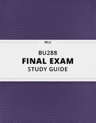 [BU288] - Final Exam Guide - Comprehensive Notes for the exam (31 pages long!)