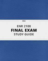 [ENR 2100] - Final Exam Guide - Ultimate 39 pages long Study Guide!