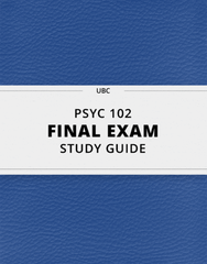[PSYC 102] - Final Exam Guide - Ultimate 79 pages long Study Guide!