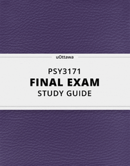 [PSY3171] - Final Exam Guide - Ultimate 42 pages long Study Guide!