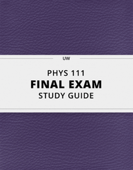 [PHYS 111] - Final Exam Guide - Everything you need to know! (72 pages long)