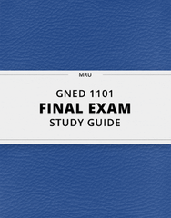[GNED 1101] - Final Exam Guide - Everything you need to know! (59 pages long)