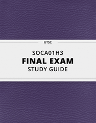 [SOCA01H3] - Final Exam Guide - Comprehensive Notes for the exam (107 pages long!)