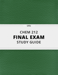 [CHEM 212] - Final Exam Guide - Everything you need to know! (25 pages long)