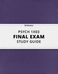 [PSYCH 1X03] - Final Exam Guide - Comprehensive Notes for the exam (69 pages long!)