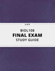 [BIOL108] - Final Exam Guide - Comprehensive Notes for the exam (82 pages long!)