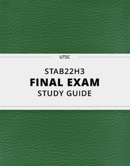 [STAB22H3] - Final Exam Guide - Comprehensive Notes for the exam (40 pages long!)