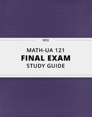[MATH-UA 121] - Final Exam Guide - Ultimate 29 pages long Study Guide!