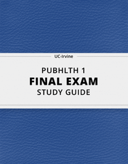 [PUBHLTH 1] - Final Exam Guide - Everything you need to know! (32 pages long)