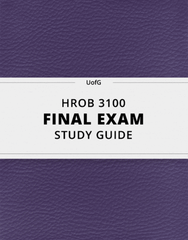 [HROB 3100] - Final Exam Guide - Comprehensive Notes for the exam (32 pages long!)