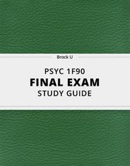 [PSYC 1F90] - Final Exam Guide - Ultimate 31 pages long Study Guide!