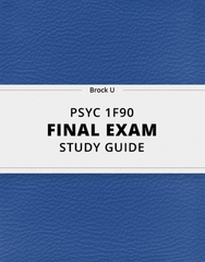 [PSYC 1F90] - Final Exam Guide - Ultimate 78 pages long Study Guide!