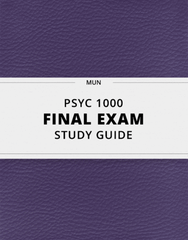 [PSYC 1000] - Final Exam Guide - Ultimate 163 pages long Study Guide!