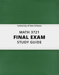 [MATH 3721] - Final Exam Guide - Comprehensive Notes for the exam (26 pages long!)