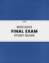 [BIOC32H3] - Final Exam Guide - Everything you need to know! (96 pages long)