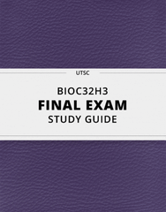 [BIOC32H3] - Final Exam Guide - Everything you need to know! (23 pages long)
